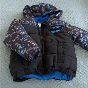 Little boys Batman jacket size for